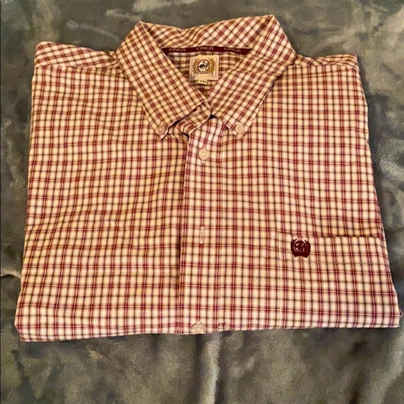 Cinch Men's Long Sleeve Button Down Shirt